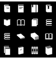 white book icon set vector image