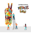 world peace day people teamwork concept vector image vector image