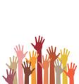 raised hands vector image