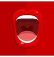 Womans open mouth vector image