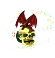 Skull with a dragon colored vector image