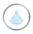 Wedding Dress icon of for web vector image