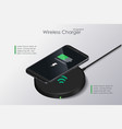 3d wireless charger infographic realistic modern vector image