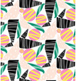 abstract collage seamless pattern vector image