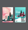 annual report 20192020 future business vector image vector image