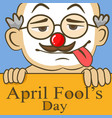 april fools day funny glasses nose vector image vector image