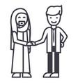 arab businesspartnershipbusinessmen handshake vector image