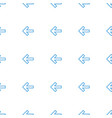 back icon pattern seamless white background vector image vector image