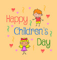 background childrens day doodle style vector image vector image