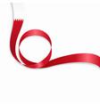 bahrain wavy flag background vector image vector image