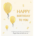 balloon and happy birthday vector image vector image