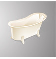 bathtub isolated on white background vector image vector image