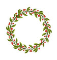 berries and leaves frame or wreath design template vector image vector image