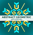 blue yellow green abstract geometric mandala vector image vector image
