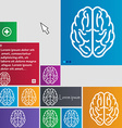 Brain icon sign buttons Modern interface website vector image vector image