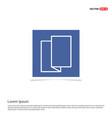 brochure flyer icon - blue photo frame vector image