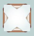 Bronze bookmarks vector image vector image