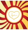 Cardiology abstract icon vector image vector image