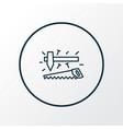 carpenter tools icon line symbol premium quality vector image