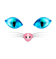 Cat Blue Eyes and Nose vector image