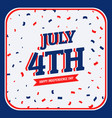 celebration of 4th of july vector image vector image