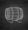 chalk sketch of wooden barrel vector image vector image