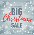 christmas sale posterbig sale 50holiday discount vector image vector image