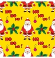 Christmas seamless pattern with cartoon Santa vector image