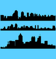 cityscape silhouettes vector image vector image