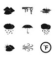 clime icons set simple style vector image vector image