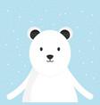 cute bear polar adorable character vector image