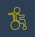 disabled icon logo vector image