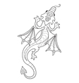 Drawing a dragon in cartoon style vector image