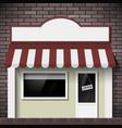 facade building shop with a signboard vector image