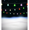 festive garlands colored lights vector image vector image