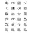 Finance Line Icons 9 vector image vector image