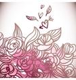 Floral BackgroundWedding Card vector image