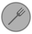 fork silver coin vector image vector image