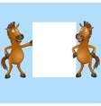 funny horse vector image vector image
