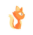 funny red kitten cute cartoon animal character vector image