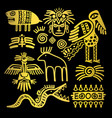 golden indian traditional signs and symbols vector image vector image