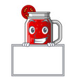grinning with board character beverage healthy vector image vector image