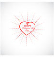 Happy Valentine s day lettering card vector image vector image