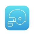 Hockey helmet line icon vector image vector image