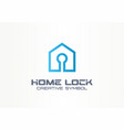 home lock creative symbol concept security access vector image vector image
