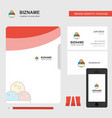 ice cream business logo file cover visiting card vector image vector image