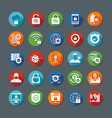 Internet Security Long Shadow Icons vector image vector image