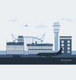 landscape airport transportation terminal vector image vector image