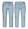 light blue pants vector image vector image