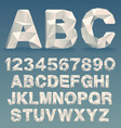 Lowpoly Font vector image vector image